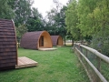 3 campings pods